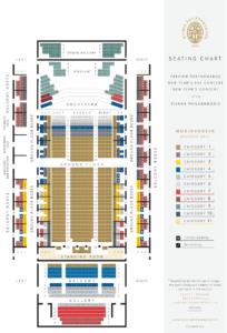 Золотой зал Венской филармонии - схема
