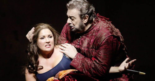 Пласидо Доминго и Анна Нетребко в опере Джузеппе Верди «Набукко»