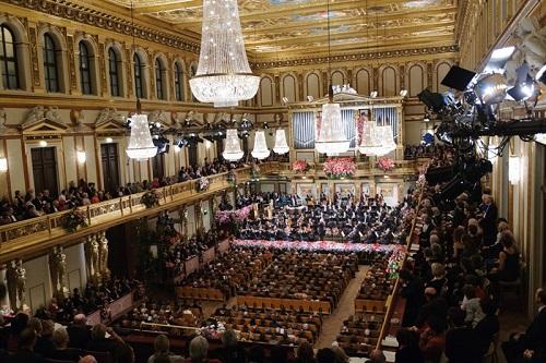 Новогодний концерт Венского филармонического оркестра в Венской филармонии