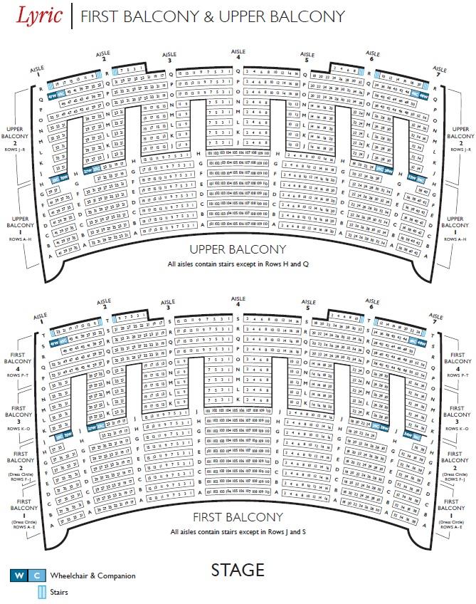 Схема зала Лирической оперы Чикаго