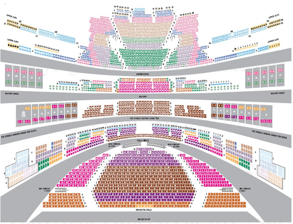 Схема зала театра Ковент-Гарден (Royal Opera House)
