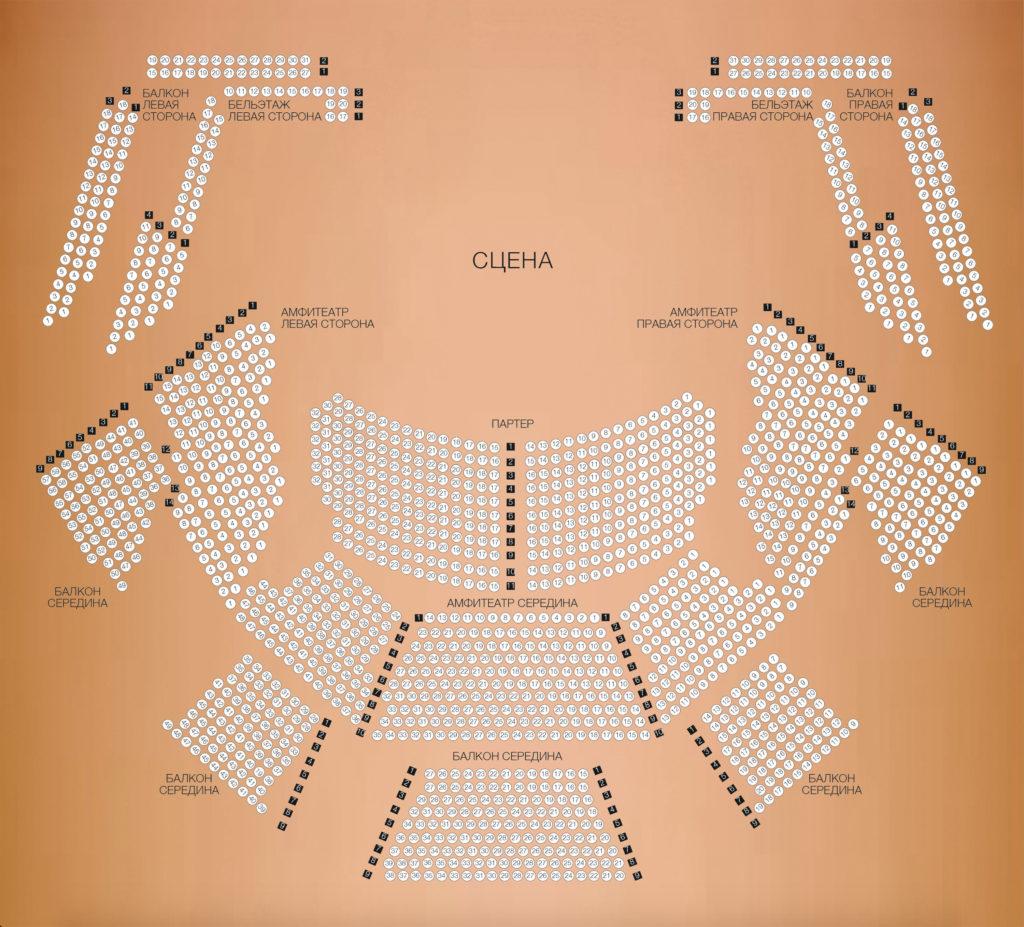 Московский дом музыки - схема Светлановского зала