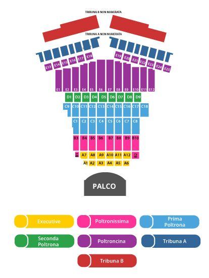 Схема зала Teatro del Silenzio. Концерт Андреа Бочелли